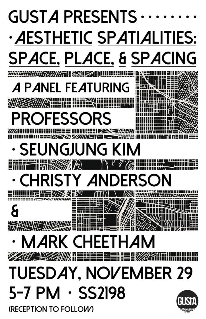 Poster for Aesthetic Spatialities: Space, Place, & Spacing Panel