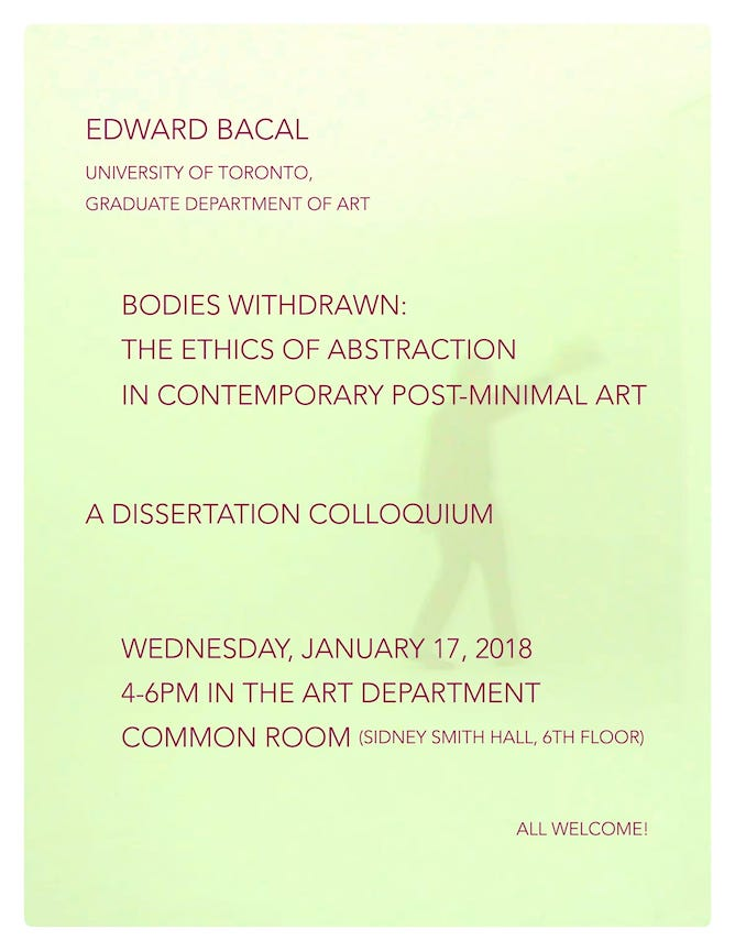 Poster for Bodies Withdrawan colloquium