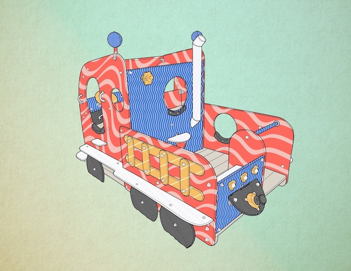 Illustration of a playground truck